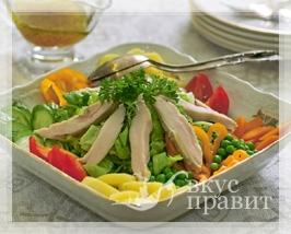 Салат из зелени с дичью