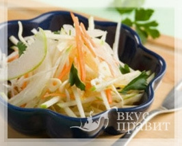 Салат из белокачанной капусты с яблоками и сельдереем