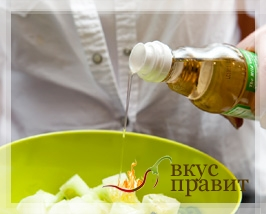 Салат с маслом и уксусом
