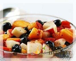 Винегрет из фруктов и овощей
