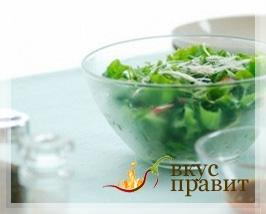 Заправка из уксуса и растительного масла