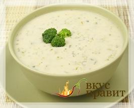 Суп молочный с запеченным рисом