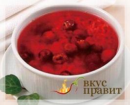 Суп из вишен с рисом