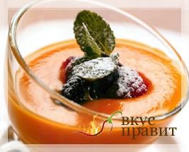 Суп-пюре из абрикосов или из персиков