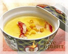 Суп-пюре из консервированной кукурузы