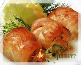 Камбала, палтус отварные с анчоусным маслом