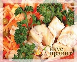 Консервированные судак, лососина, нельма в белом вине