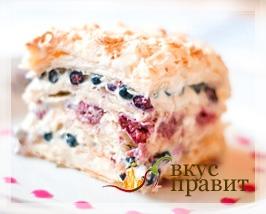 Сладкий пирог со свежими ягодами