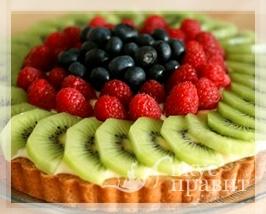 Пирог песочный с ягодами