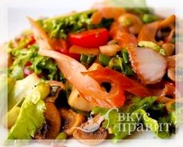 Салат из грибов и помидоров