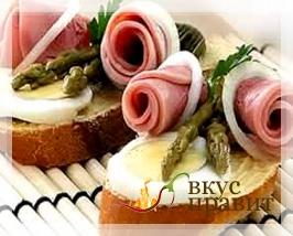 Бутерброды и другие изделия из хлеба