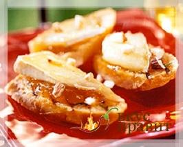 Бутерброды с сыром и джемом