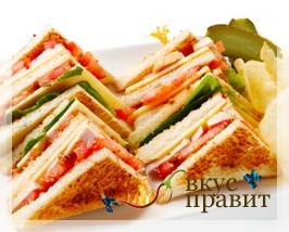 «Полосатые» бутерброды
