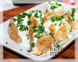 Картофель со сметаной и луком