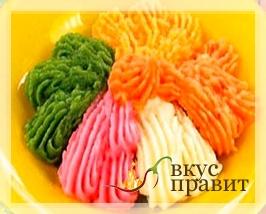 Картофельное пюре разноцветное
