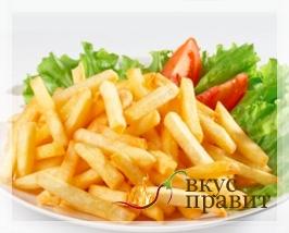 Картофель, жаренный соломкой во фритюре